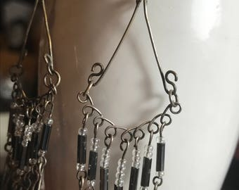 Bohemian Beaded Earrings - Handmade Vintage