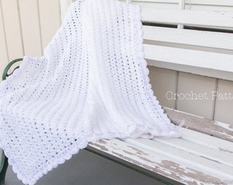 Baby afghan pattern etsy crochet pattern crochet baby afghan pattern crochet blanket pattern pure white with purple dt1010fo
