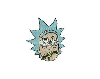 "3.5"" Wasted Rick Iron-On Patch - And Morty Tiny Pickle Little Cartoon Mr. Meeseeks Adult Swim Network TV Series NEW Season Episode Episodes"