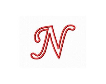 Instant Download Cursive Alphabet Embroidery Machine Applique Design-742