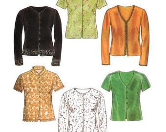 Simplicity Sewing Pattern 6814 Misses' Blouse  Size:  A  10-22  Uncut