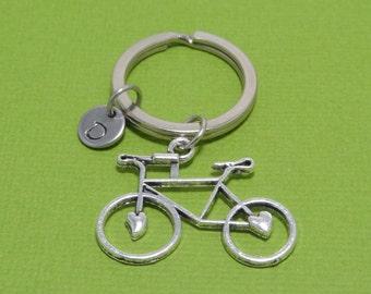 Personalized Bike Keychain, Bicycle Keychain, Sport Keychain, Cycling, Gift for Cyclist, Customized, Engraved, Monogram, Initial Keychain