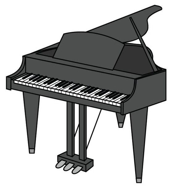 piano clip art piano vector graphic digital download piano rh etsy com piano clip art free piano clipart free