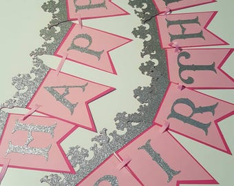 Princess Banner  - Princess Birthday Party - Princess Decorations - Princess Party Decor - Princess Birthday Banner-Princess Party-Princess