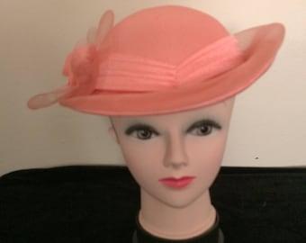 C&A Peach Wedding Hat
