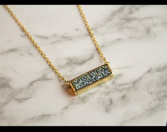 """Gold plated druzy necklace """"Sacha"""""""