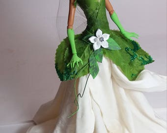 RESERVED for pauline Tiana from Princess and the frog inspired ooak doll, monster high repaint