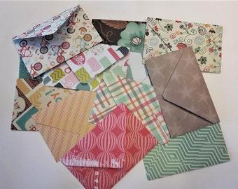 12 Vintage Style Handmade Envelopes