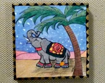Fanciful Fellow Elephant Art Panel