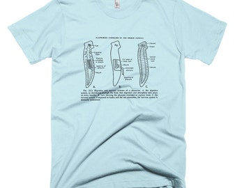 Planaria Worm Science Biology T-Shirt