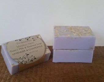 Lavender & Chamomile Goat's Milk and Oatmeal Soap