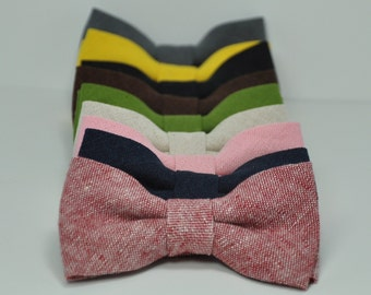 Boy's Bow Ties in Linen Lots of Colors Available