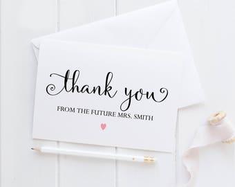 Personalized Wedding Thank You Cards. Custom Wedding Thank You Cards. Couples Shower Thank You Cards. Wedding Thank You Notes.
