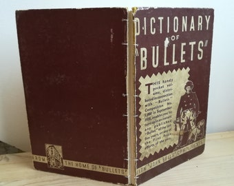 Bullets (recycled vintage book)