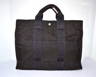 FREE Ship Hermès Hermes Tote Grab Bag Herline Shopper Handbag Grey Gray 'H' Authentic