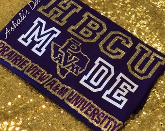 PVAMU- HBCU Made- Custom Tees And Hoodies! -Prairie View A&M University-GLITTER