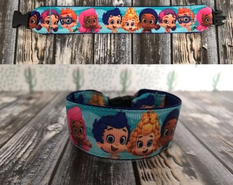 Bubble guppies id bracelet, medical bracelet, fun bracelet, personalized