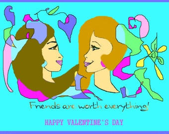 Best Friends Valentines Card Instant Download