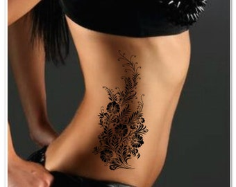 Temporary Tattoo Flower Fake Tattoo Thin Durable
