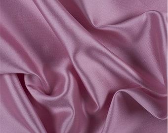 Pink Silk/Wool Gab, Fabric By The Yard