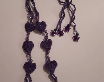 Purple Heart-Shaped Barefoot Sandals