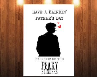 Funny Peaky Blinders Fathers Day Card