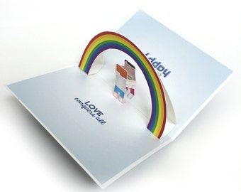 Gay Card / Lesbian Card / LGBT Rights / Love Pop Up Card / Gay Lesbian Pop Up Card / Gay Lesbian Card / Greeting Card / Pop Up Card