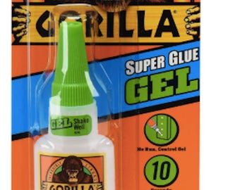 Gorilla Super Glue Gel, 20 g, Clear Projects Craft Glue Adhesives Fast Shipping