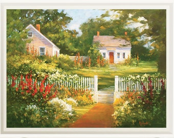 Landscape wall art print from original oil painting, Landscape giclee print, Wall decor, Painting, Maine art, Original painting