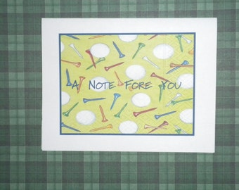 A Note Fore You Golf Note Card