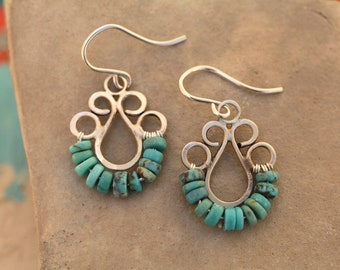 Turquoise Curve Earrings