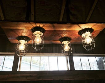 Four nautical light fixture rustic ceiling chandelier