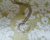 Silver little ring pendan...
