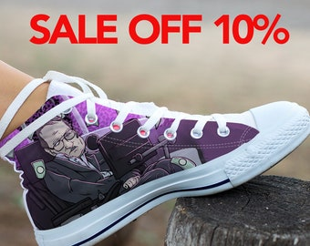Stephen Hawking Custom Shoes, Stephen Hawking Custom Converse, Space Black Hole High Top, Hawking Converse Shoes, Science Custom Sneaker