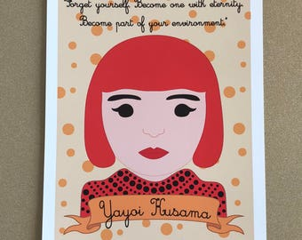Sheroes Collection: Yayoi Kusama 8x10 Art Print