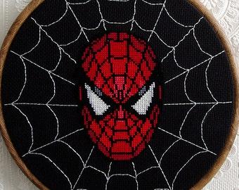 Spiderman Cross Stitch Pattern