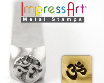 "OM Metal STAMP 6mm 1/4"" Steel Punch ImpressArt Custom Stamping Jewellery Tool Yoga Spiritual Personalized Jewelry"