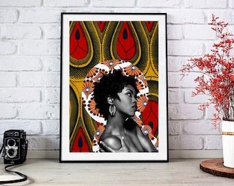 Lauryn Hill - Limited Edition Print - 8x10 Print - Digital Collage - Black Art - African Art