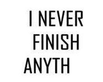 I NEVER FINISH ANYTH, funny decal, Christmas gift, gifts for her, gifts for him, custom decals, Fast Processing!