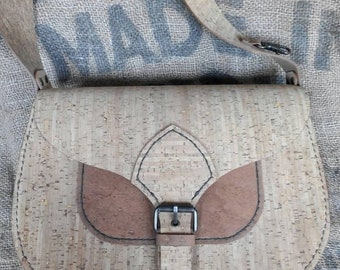 Vegan Cork Leather Saddle Bag Handmade Eco Friendly