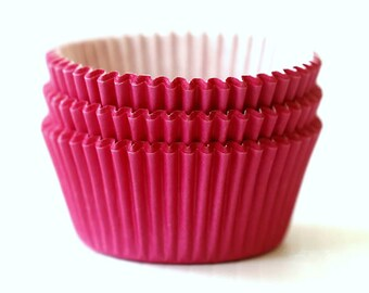 Solid Hot Pink Cupcake Liners