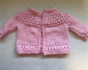 Pretty in Pink Newborn Sweater