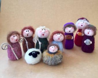 Nativity Needle felted from ireland