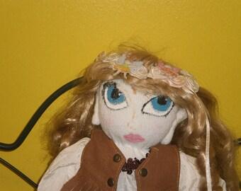 sock doll  Sapphire  sock doll soft doll rag doll elf doll