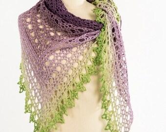 Crochet Pattern : Lavender Cake Shawl