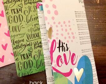 Choose One - Midori Travelers Notebook Style Folder - FREE SHIPPING - Bible Journaling Hand Lettering 4 pocket Folders MTN Fauxdori