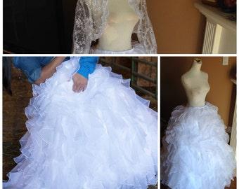 Wedding skirt, wedding dress alternative - skirt only
