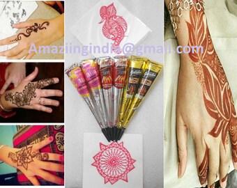 Henna Tattoo Kits Uk : Henna tattoo kit etsy