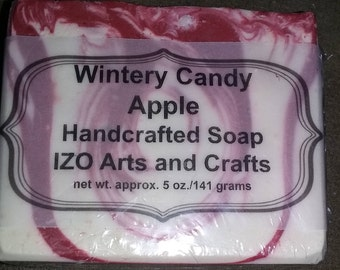 Wintery Candy Apple Cold Process Goat Milk Soap