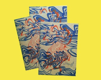 Distorções Risograph Abstract Art Zine